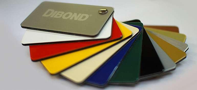 Dibond lemez több színben